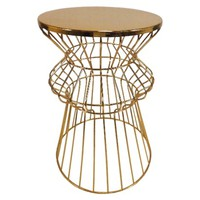 Threshold™ Nautical Brass Cage Accent Table