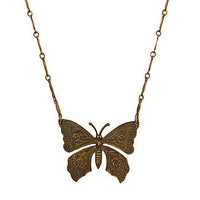 Antiqued Butterfly Necklace at the Bibelot Shops