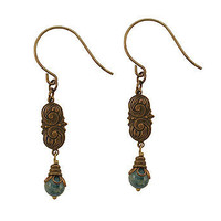 Art Nouveau Apatite Swirl Earrings at the Bibelot Shops