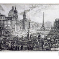 The Piazza Navona, from 'Le Antichita Romane De G.B. Piranesi (1756)', Published Paris 1835 Giclee Print by Giovanni Battista Piranesi at Art.com