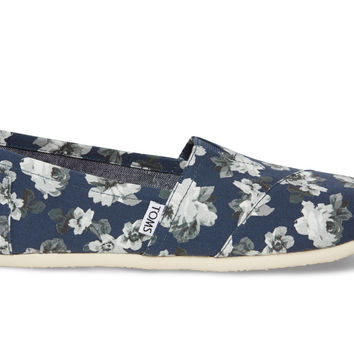 NAVY AND GREY FLORAL WOMENx27S CLASSICS