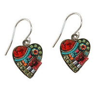 Multi Mosaic Heart Earrings at the Bibelot Shops