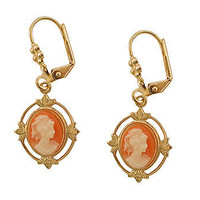 Rose Cameo Earrings at the Bibelot Shops