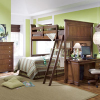 Finn Cherry L Shape Bunk Beds