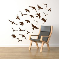 Birds flock wall decal vinyl decal  seagulls flock by CherryWalls