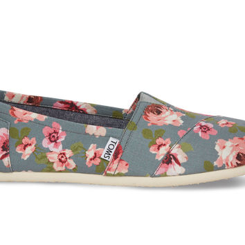 GREY AND PINK FLORAL WOMENx27S CLASSICS