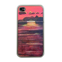 Seascape Art iPhone 4 iPhone 4s Cover by theartarena on Etsy