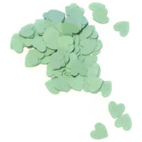 Heart Confetti - Biodegradable Wedding Decor - 100 Pastel Green Hearts