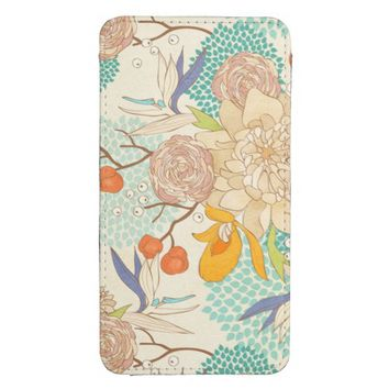 Peony Flower Pattern Samsung Galaxy S4 Pouch Case