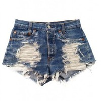 Women's Vintage Levi's Distressed Stone Dreamer Trendy Shorts:Amazon:Clothing