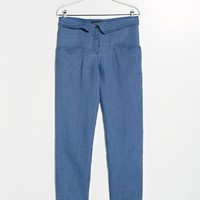 FOLDED WAIST TROUSERS