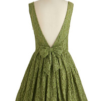 Cherished Celebration Dress in Olive | Mod Retro Vintage Dresses | ModCloth.com