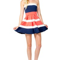 Box Pleat Colorblock Dress