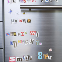 Ransom Fridge Magnets ? Cox & Cox, the difference between house and home.