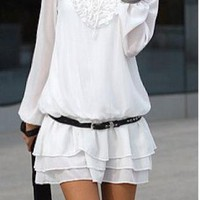 White Day Dress - Ruffled Chic Dress/Top | UsTrendy
