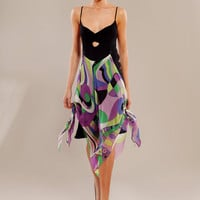 Heavy silkgeorgette and geometric printed silkchiffon by tsyndyma