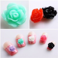 350buy 20pcs New Colorful Acrylic 3D Rose Flower Slices UV Gel Nail Art Tips DIY Decorations:Amazon:Beauty