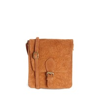 ASOS Suede Tooled Satchel Bag