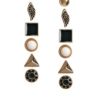 ALDO Prigosien Multipack Stud Earrings - Black