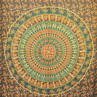 Round Mandala Tapestry, Indian Tapestry, Throw Wall Hanging, Etchnic Decor art, Hippy Hippie Mandala Tapestry, Mandala Bedspread, Dorm Cover