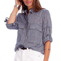 Camper Chambray Shirt in Blue :: tobi
