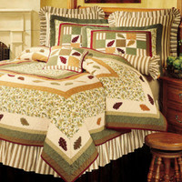 Falling Leaves Deluxe Bedding Set 