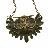 Owl necklace retro necklace vintage bird necklace by mosnos