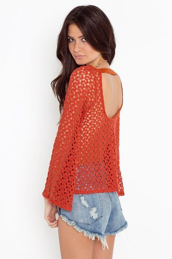 Janis Crochet Top in  Sale at Nasty Gal