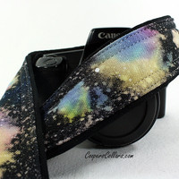 333 Galaxy Camera Strap, OOAK Hand painted, One of a Kind, dSLR or SLR, Cosmos, Nebula, OOAK