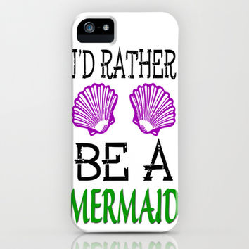 Ix27d Rather Be A Mermaid iPhone   iPod Case by andrialou