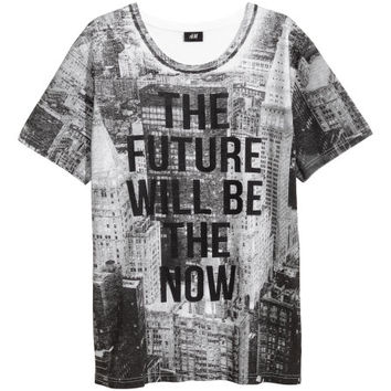 T-shirt with Printed Design  from H M
