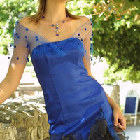 Royalblue Elastic Taffeta Sexy Cocktail Dress by KataKovacs