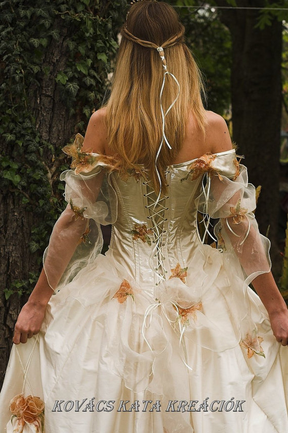 Rococo Inspired Fairy princess Corseted Ball or by KataKovacs