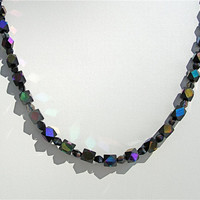 Black Glass Bead Necklace