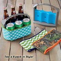 Neoprene Bottle & Can Tote @ Fresh Finds