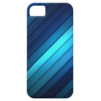 Hues of Blues Striped iPhone Cases