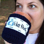 Like this funny coffee mug cozy handmade by knotworkshop on Etsy
