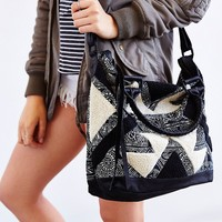 Cleobella Deja Textured Canvas + Leather Tote Bag - Urban Outfitters