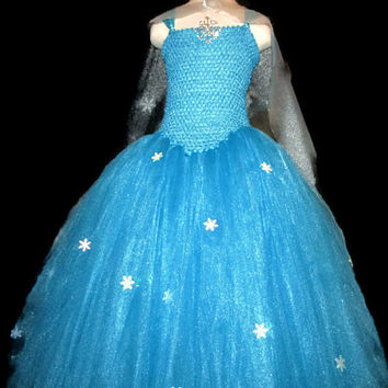 Elsa tutu dress Frozen inspired with handmade cape