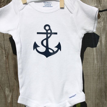 Nautical Anchor Baby Onesies(R), Nautical Baby Shower