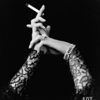 Woman's Hands Holding Cigarette Photographic Print at Art.com