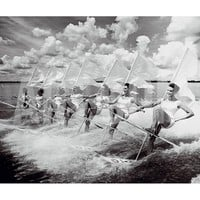 Water Ski Parade Art Print by The Chelsea Collection at Art.com