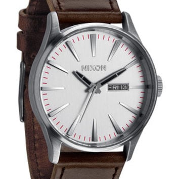 The Sentry Leather  Menx27s Watches  Nixon Watches and Premium