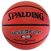 Amazon.com: Spalding NBA Never Flat Outdoor Rubber Basketball: Sports & Outdoors