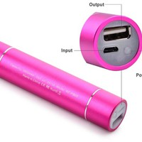 RAVPower 3rd Gen Mini 3200mAh Portable Charger Lipstick-Sized External Battery Pack Power Bank Charger, iSmart Broad Compatibility, Fast Charging (Ultra Bright Flashlight with High/Low/Strobe Modes, 5V/1A Output) for iPhone 6,6 plus, 5S, 5C, 5, 4S, 4, iPod