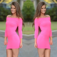All Curves Mini Dress - Hot Pink | Fashion Nova