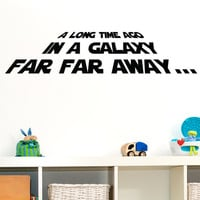 Star Wars Wall Decal Decor Vinyl  Art  A long time ago