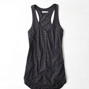 AE Henley Tank Sunsational  American Eagle Outfitters
