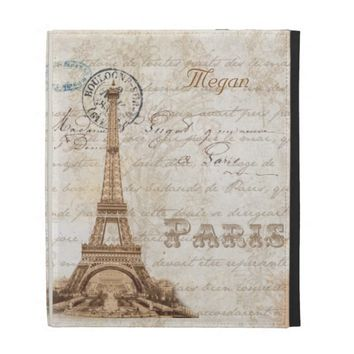 Paris French Vintage Personalized iPad Case