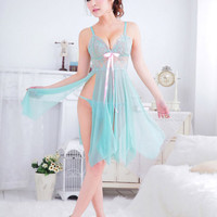3 colors Sexy lingerie babydoll Luxury embroidery Bedroom dress sleepwear night
